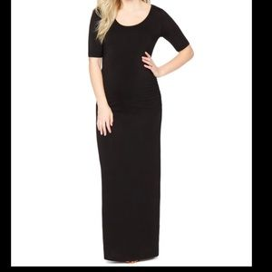 Motherhood Maternity side ruched maxi long dress